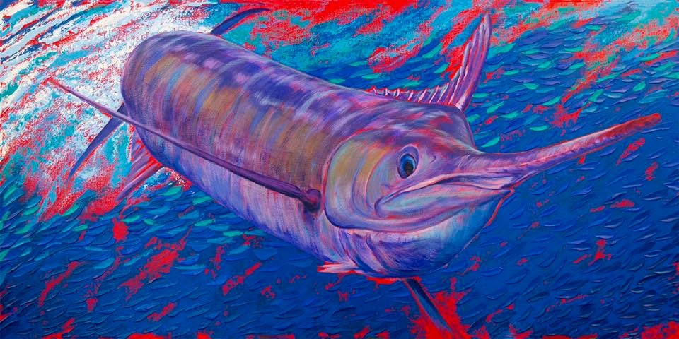 Southern Belle (sold), Acrylic by Amy-Lauren Lum Won - Kauai fish art, Hawaii fish paintings