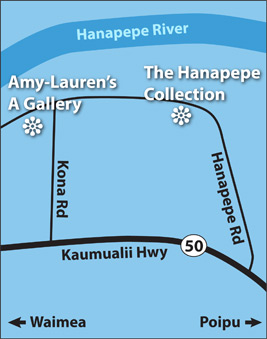 Map of Hanapepe, Kauai